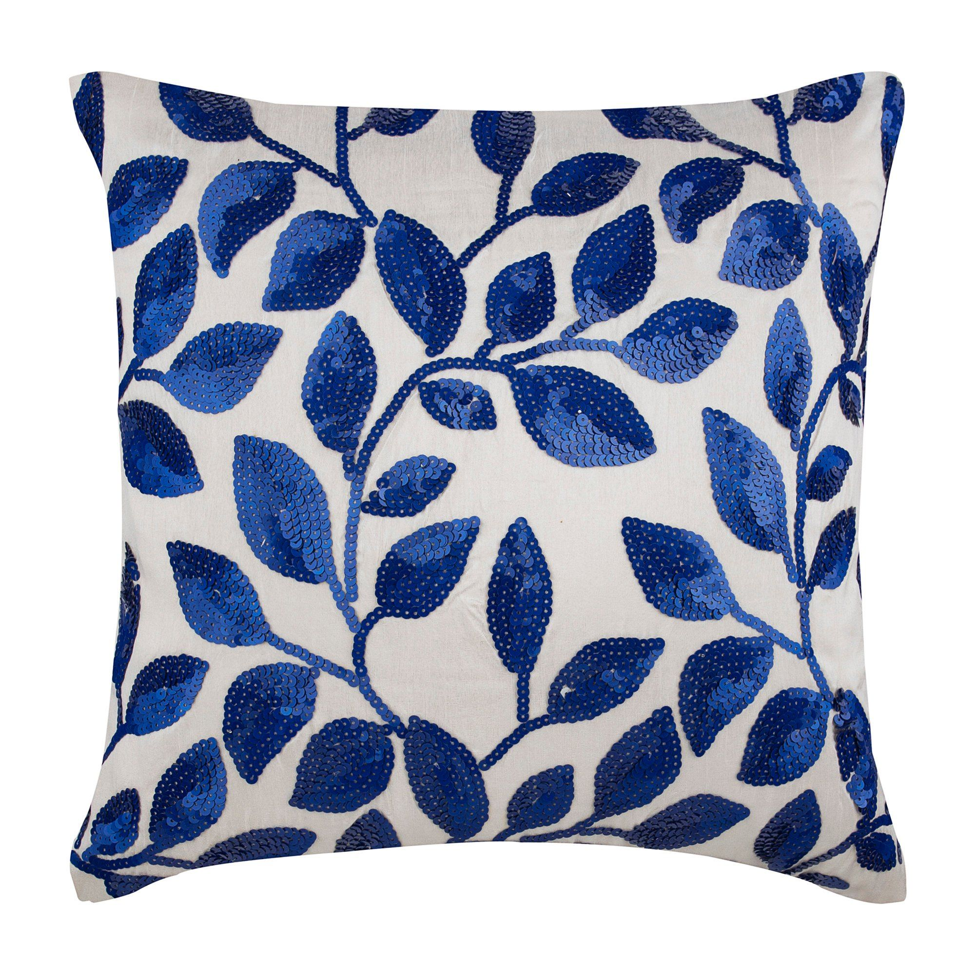 Royal Blue pillow. Cobalt blue art silk