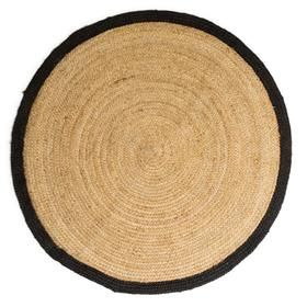 Jute Rug With Black Border, Large