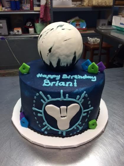 Destiny Birthday Cake Adrienne  Co Bakery Video Game Cakes - Video game birthday cake