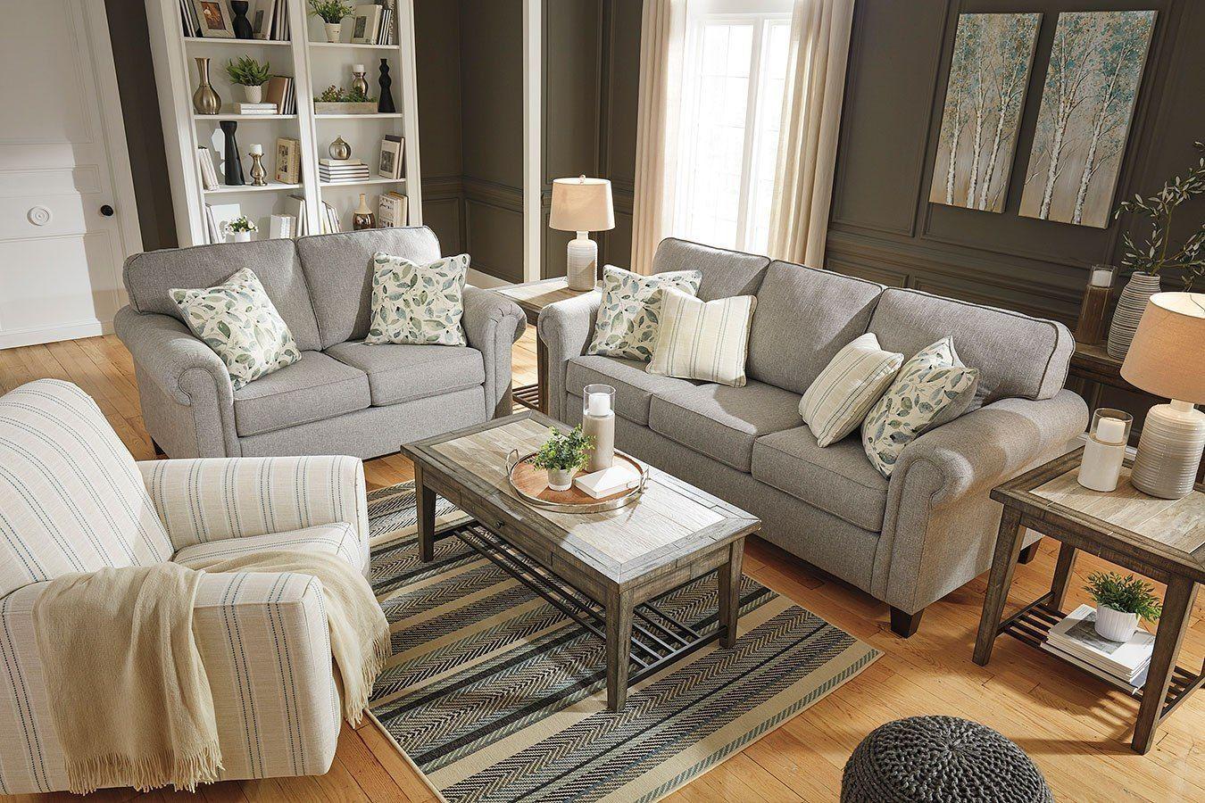Best Alandari Gray Living Room Set Grey Living Room Sets 640 x 480