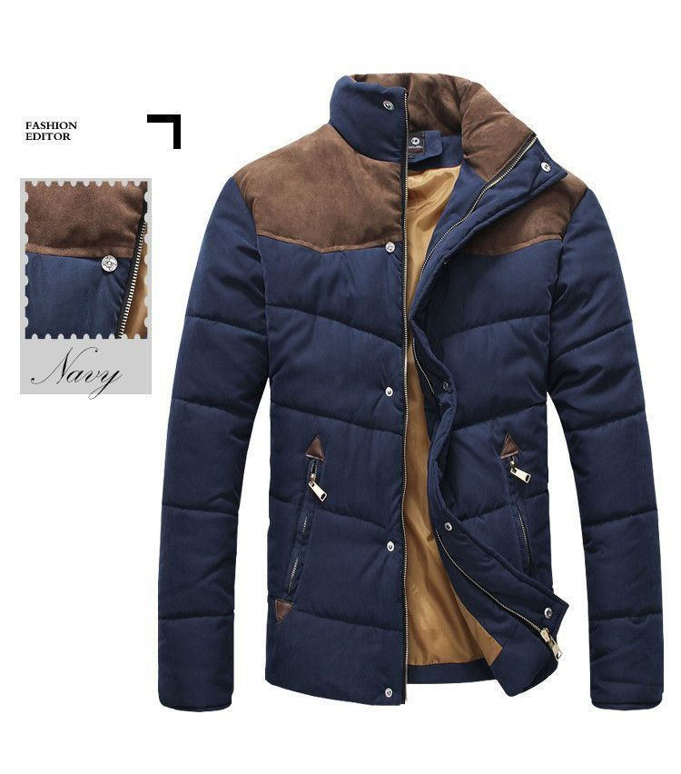 0425932ffa3c Hee Grand Men s Suede Trimmed Puffer Coat   Products   Pinterest ...