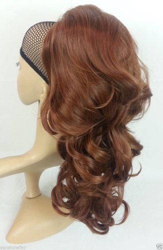 New Ladies Long Wavy Curly Volume Boost Drawstring Comb Ponytail Hair Extensions from Accessorize-me (33/30 AUBURN) - http://buyshoe.eu/new-ladies-long-wavy-curly-volume-boost-drawstring-comb-ponytail-hair-extensions-from-accessorize-me-3330-auburn.html