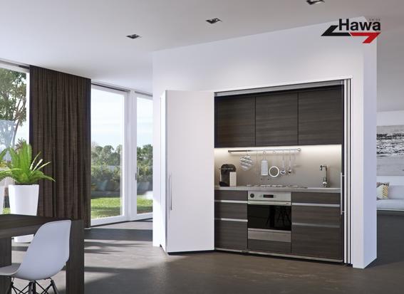 Nuevo Sistema Para Puertas Plegables E Insertables Hawa Folding Concepta 25 Sliding Folding Doors Sliding Cabinet Doors Sliding Door Hardware