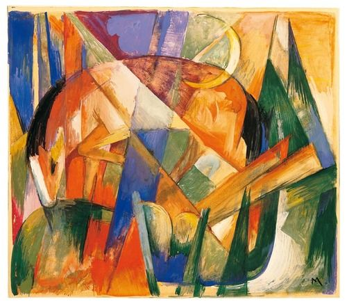 Franz Marc - Mythical Creature II (Horse)...