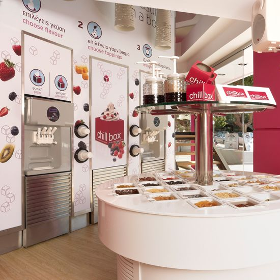 Chillbox 2yolk Branding And Design Frozen Yogurt Shop Frozen Yogurt Bar Yogurt Shop
