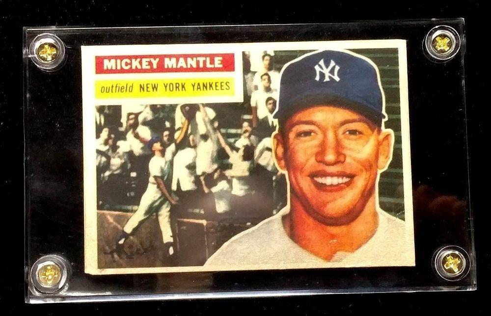 1956 Topps Mickey Mantle New York Yankees 135 Baseball Card