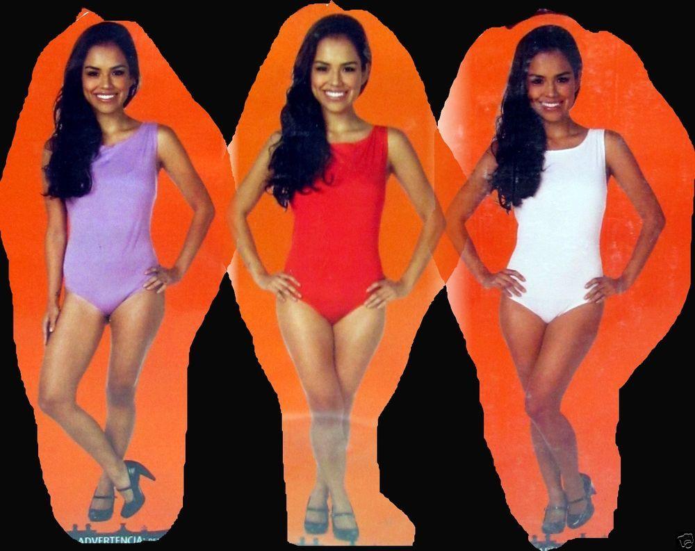 Leotard Adult Womens No Sleeve Halloween Fancy Dress Costume Starter Small 4-6 #TricksTreats #Dress