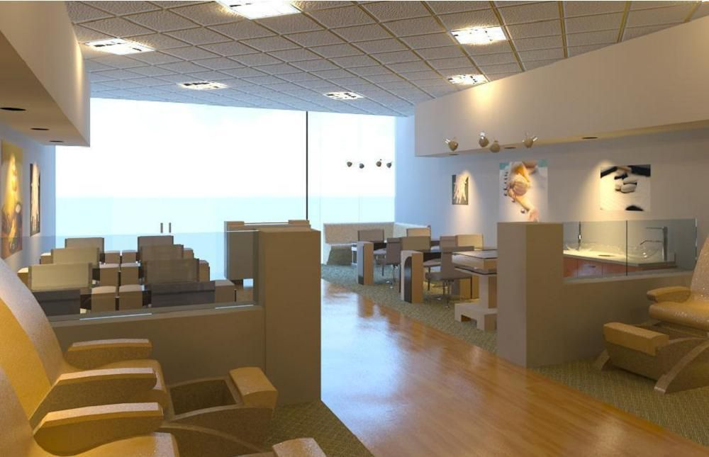 Nail Salon Interior Design   salon design   Pinterest   Nail salons ...