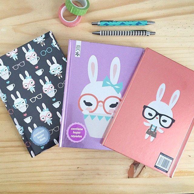 Bonjour!!! Este verano trabajé en un encargo de los que me gustan. Una colección de cuadernos bonitos. Ayer recibí las muestras. Estos son tres diseños de los diez diseños que preparé. Son conejos miopes. Los encontrareis en Fnac y otros establecimientos | Flickr - Photo Sharing!