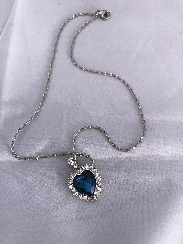 Vintage Sapphire Blue Rhinestone Heart with Arrow Pin Vintage Heart with Arrow Pin Valentine Sweetheart Rhinestones