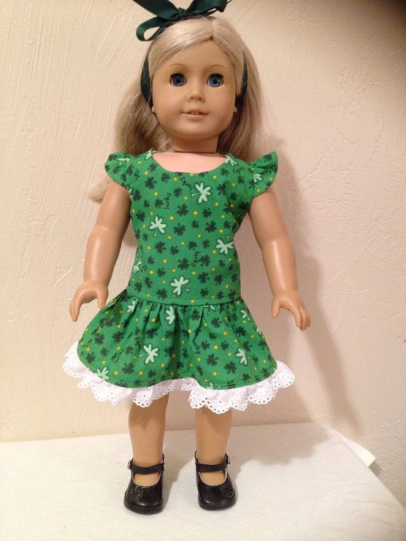 American Girl Doll ClothesSt. Patrick's by Dalesdolldesigns, $16.00