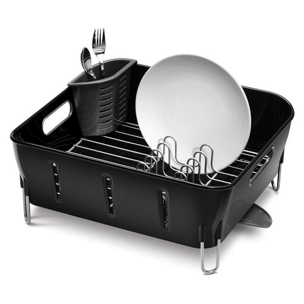 Black Compact Dish Rack