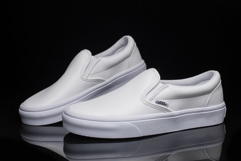 reputable site 38c19 b750e VANS new deer Han full white one pedal ultra soft head layer leather  classic lazy sets Slip-On purple security genuine code number  Vans