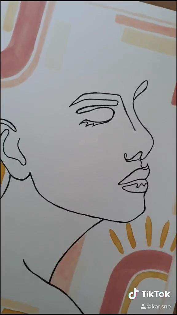 Blush Line Art Face by karsne | Redbubble