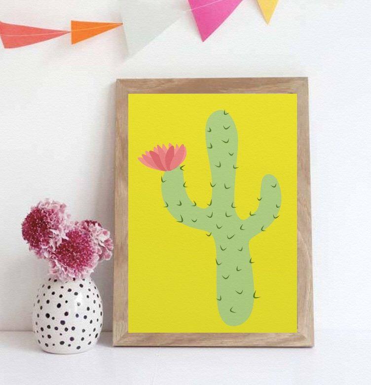 Funky Cactus Wall Art Print, Botanical Print, Botanical Wall Art ...