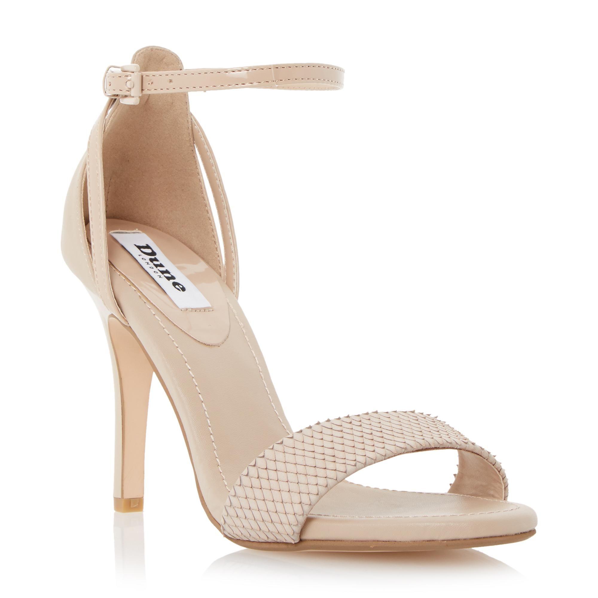 DUNE LADIES MADEIRA Two Part High Heel Sandal