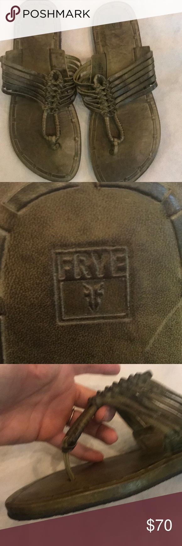 Frye Zoe Huarache Flip Flops 10 Style 78420 Only Worn