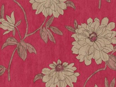 Beatrice Raspberry Red - 980711 - Wallpaper