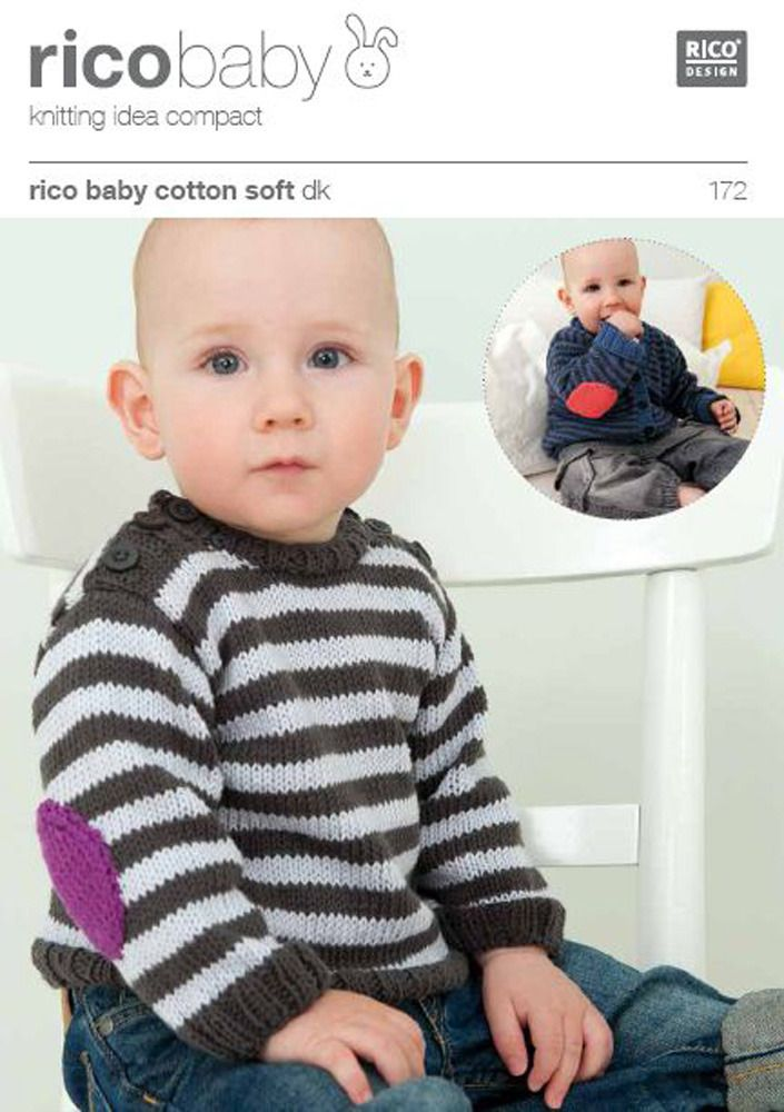 Rico Knitting Patterns For The Whole Family Striped Cardigan Knit