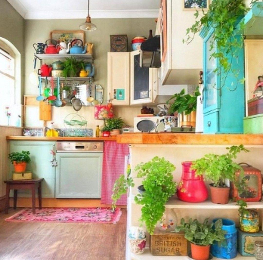 unique and colorful bohemian kitchen design ideas 4 in 2020 with images bohemian kitchen on kitchen decor hippie id=93120
