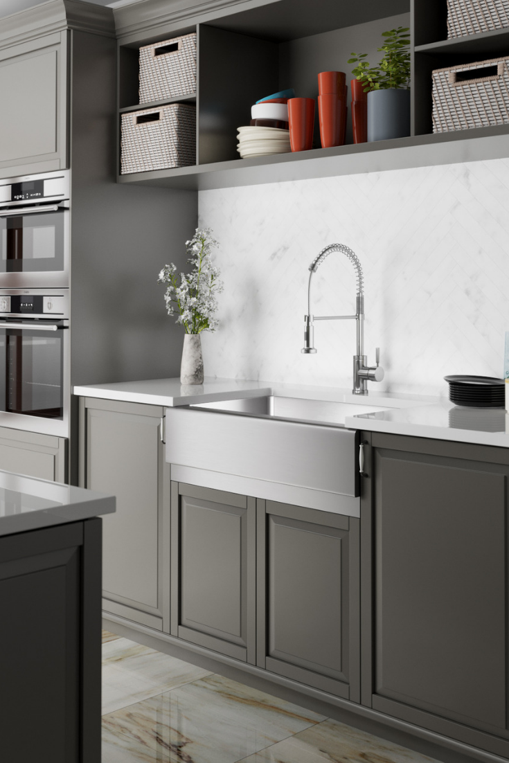 We Are Loving All Of The Classic Details Throughout This Timeless Kitchen Neutral Tones Small House Kitchen Design House Design Kitchen Kitchen Design Trends