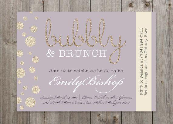 Bubbly Brunch Champagne Bridal Shower By Gaiadesignstudios