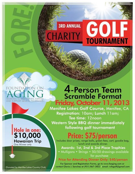 charity golf tournament Golf Tournament Pinterest Golf - golf tournament flyer template