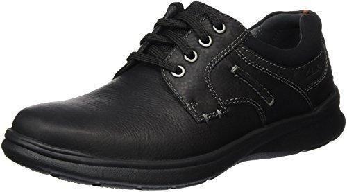Clarks - Zapatos de cordones de Piel para hombre negro negro, color marrón, talla 44.5