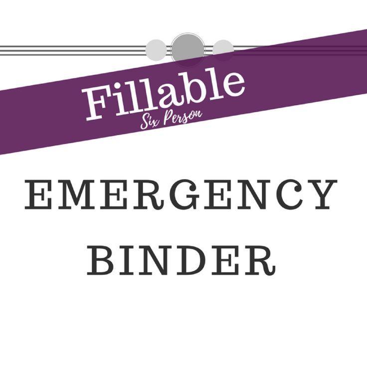 Electronic emergency binder six person emergency binder