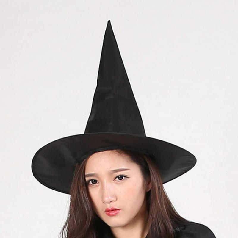 Black Witch Hat Halloween Party Costume Accessory Cosplay Prop Fancy - halloween party decorations adults