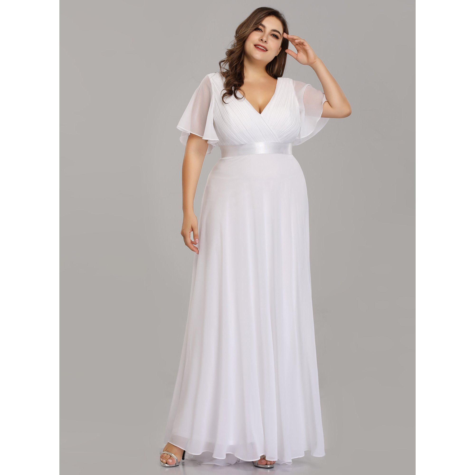 Ever Pretty Ever Pretty Womens Chiffon Long Prom Cocktail Dresses For Wome Bridesmaid Dresses Plus Size Empire Waist Evening Dress Empire Waist Wedding Dress [ 2000 x 2000 Pixel ]