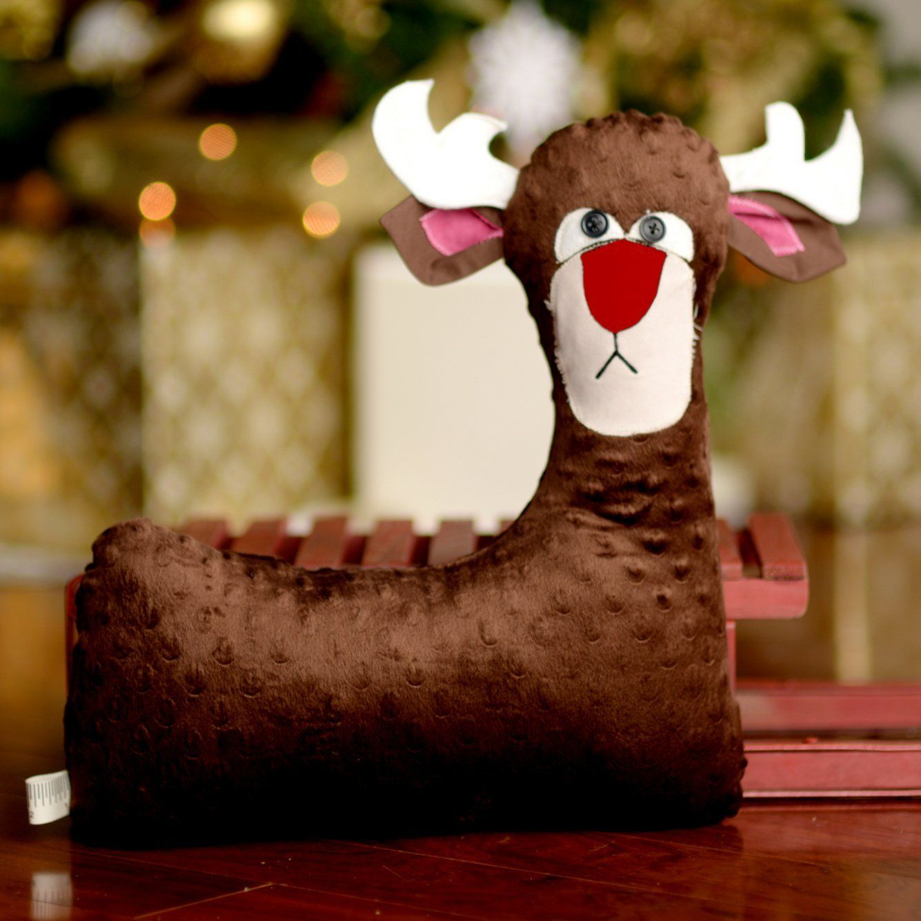 Deer Stuffed Animal Gift for Boy under 40 - red