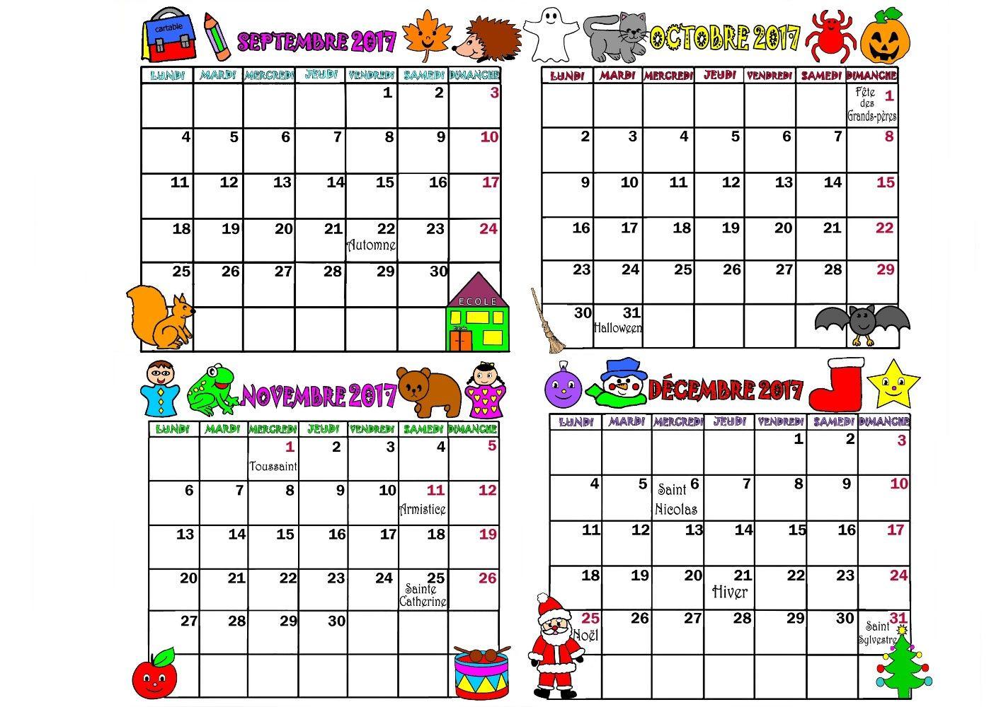 Imprimer Calendrier mois par mois en PDF cliquez : .acrobat.com Calendrier par… | Calendrier 2017,