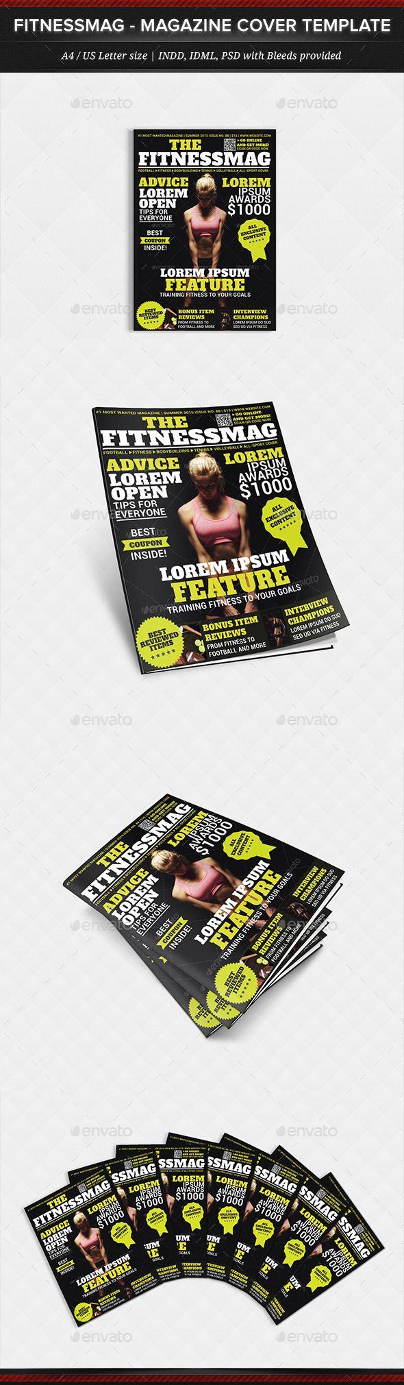 fitnessmag multipurpose magazine cover template design magazine
