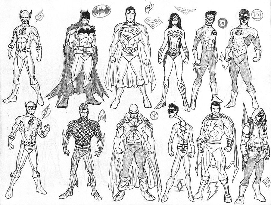 All Justice League superheroes coloring pages Enjoy