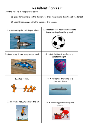 Image Result For Year 7 Labelling Forces Worksheet Year 7 Worksheets Force