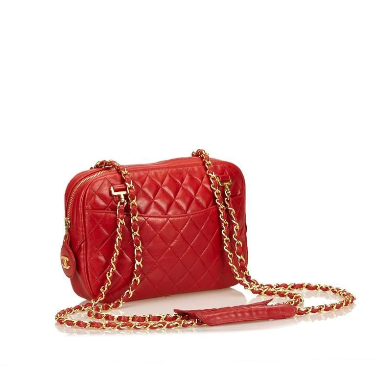 Red Chanel Quilted Lambskin Shoulder Bag in 2018  08c84d943be77