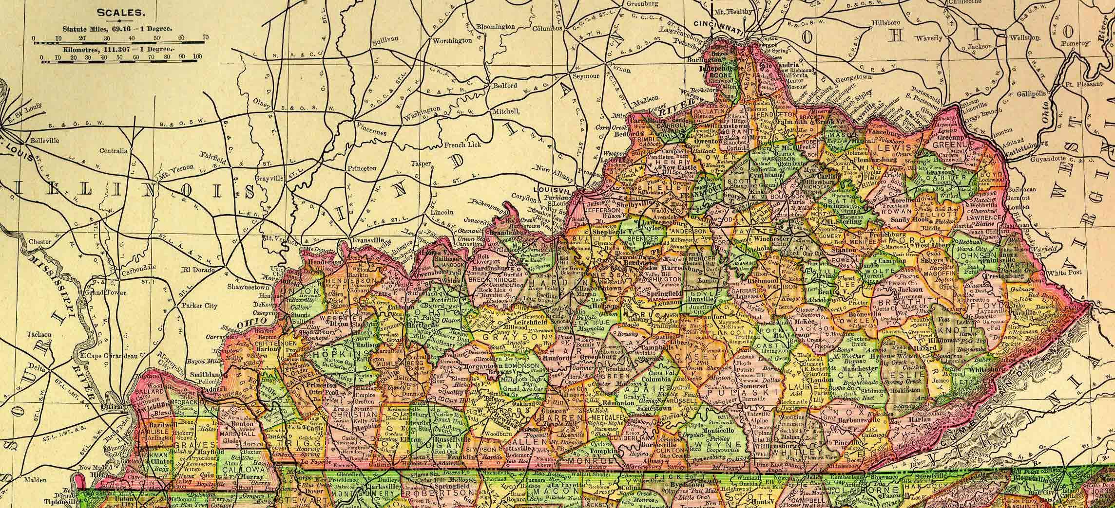Map Kentucky County » Online Interactive Map Wallpapers | Online ...