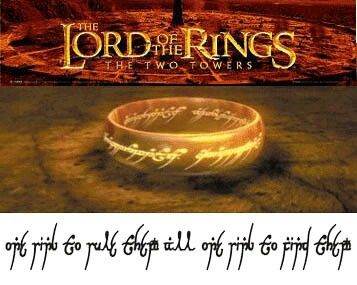 Lord of the rings ring of power tattoo