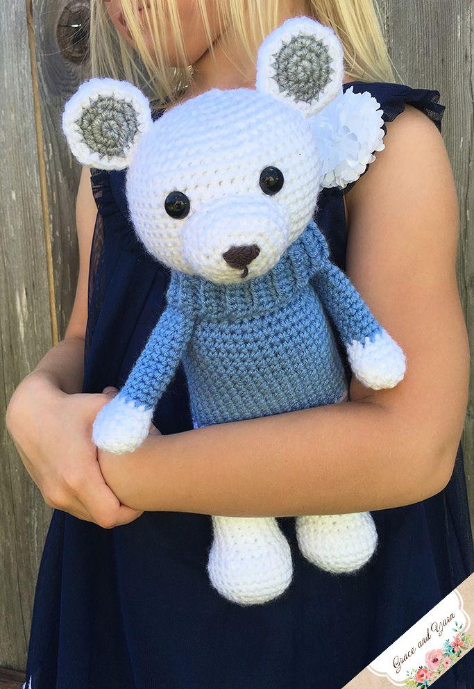 Amigurumi Polar Bear - A Free Crochet Pattern | Crocheted Bears ...