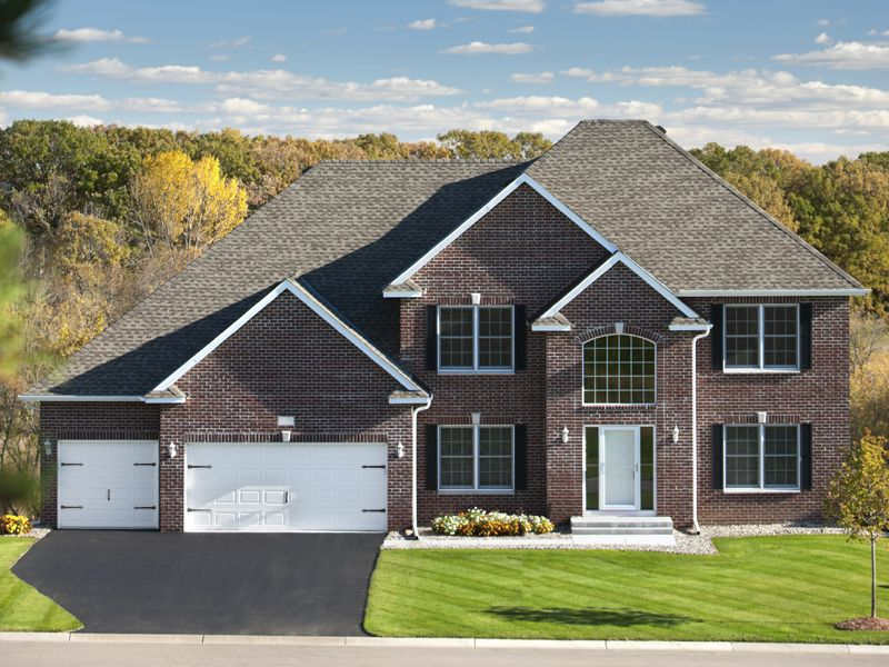 Traditional brick two story with garage google search for Brick garage plans
