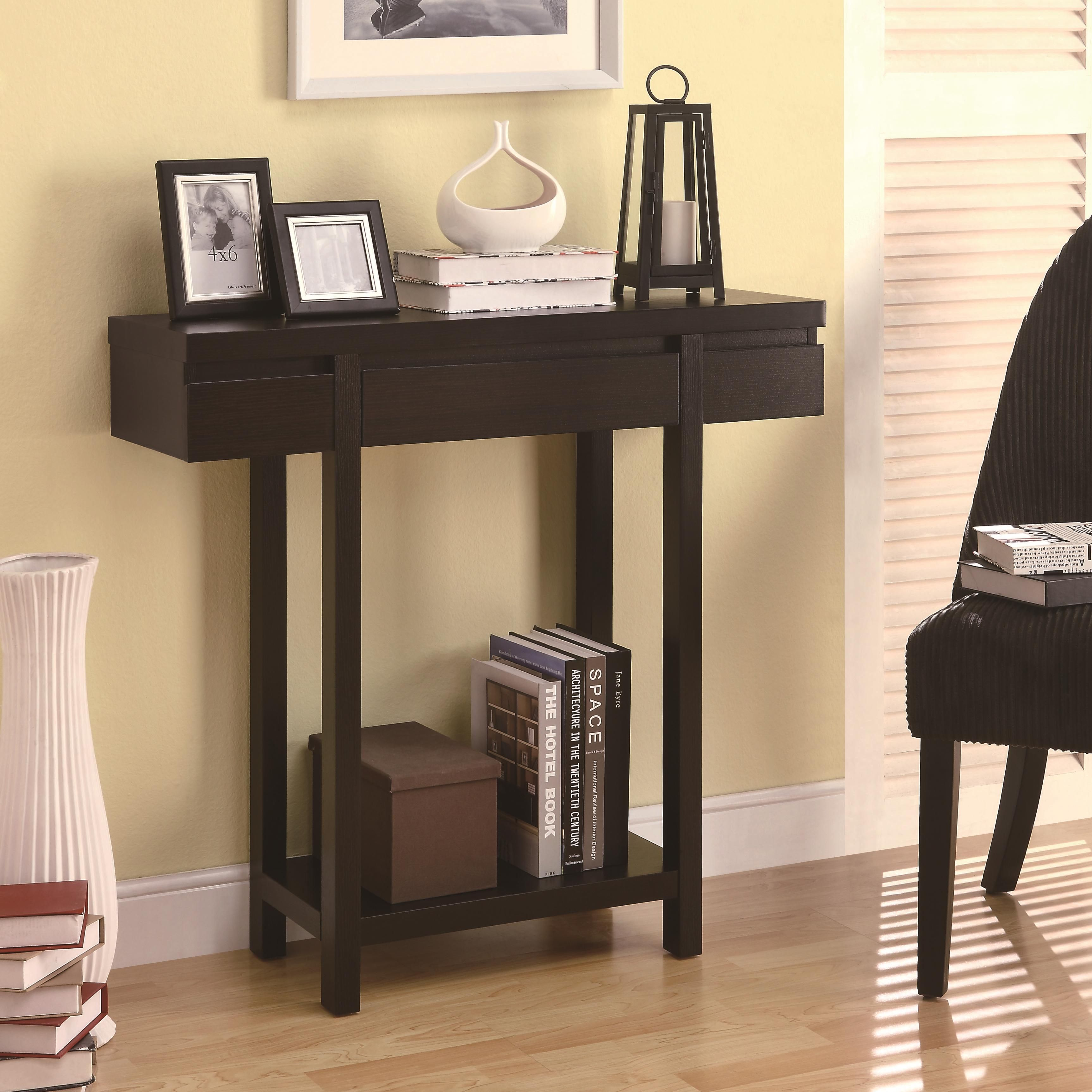 Entry Hall Furniture accent tables modern entry table with lower shelfcoaster