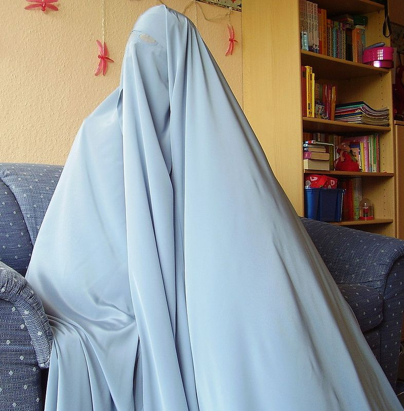 Sale: Light blue chador and ru-band