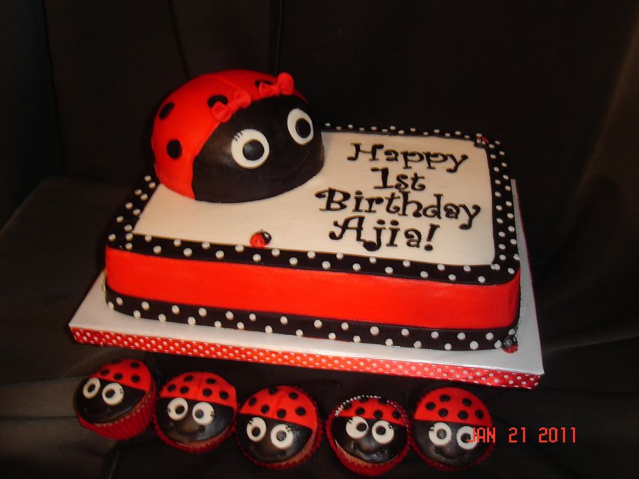 Enjoyable Ladybug 1St Birthday Childrens Birthday Cakes Ladybug 1St Birthday Cards Printable Benkemecafe Filternl