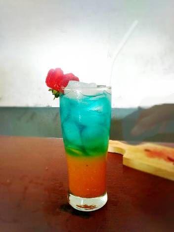 Resep Blue Sunrise Mocktail Oleh Robby Resep Moktail Pepsi Jus Jeruk