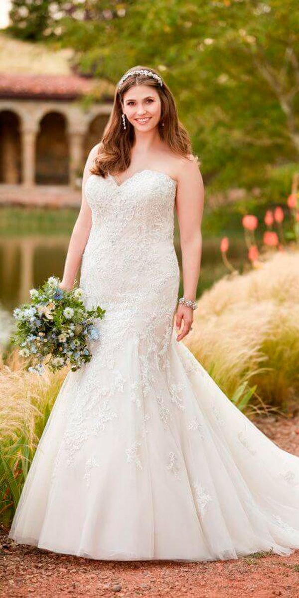 33 Plus-Size Wedding Dresses  A Jaw-Dropping Guide ❤ mermaid strapless  sweetheart neck plus size wedding dresses essense of australia ❤ See more   ... 941f962eb2