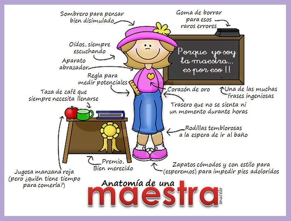 Anatomia de una maestra | Escuela | Pinterest | Maestros, Anatomía y ...