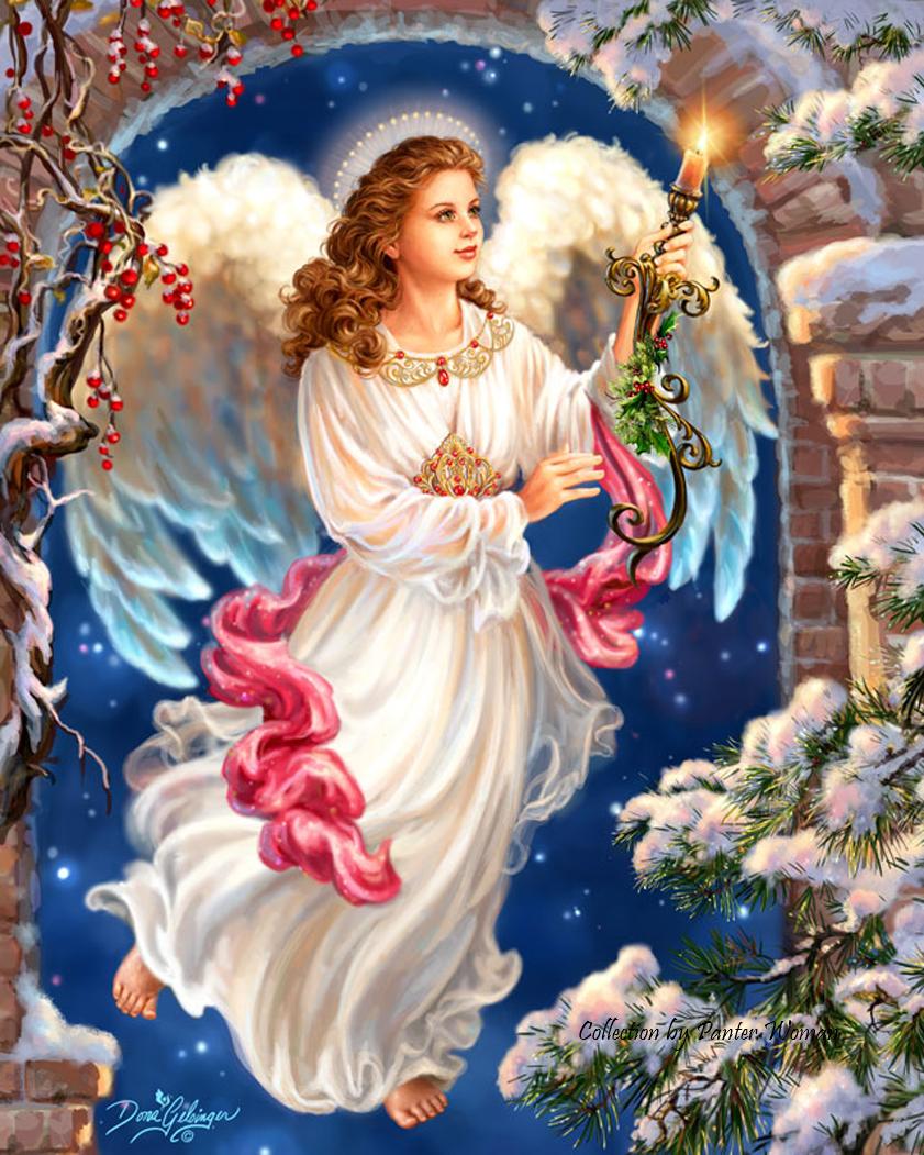 Картинка рождество с ангелами