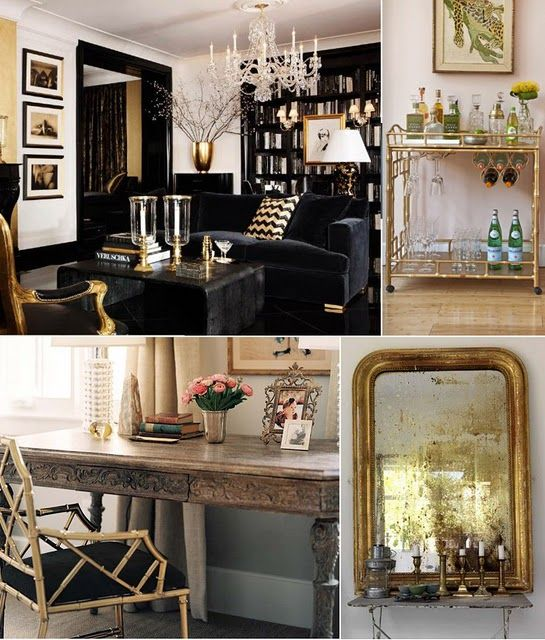 Gold Chinese Chippendale Frame With Black Cushion Lovely Rooms Home Decor Formal Living Rooms Home Decor