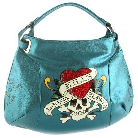 Ed Hardy Love Kills Slowly Tori Hobo Bag Blue - A cool street ...